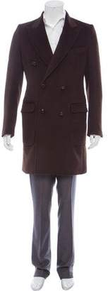 DSQUARED2 Wool & Angora Double-Breasted Overcoat