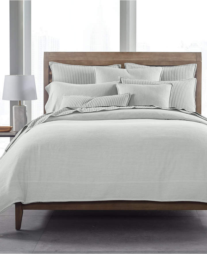 525-Thread Count Yarn Dyed Twin Duvet Cover, Created for Macy's Bedding