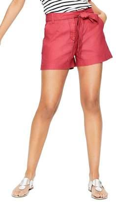 Boden Linen Tie Front Shorts