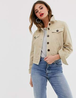 Asos Design DESIGN denim boxy cropped jacket