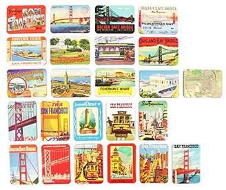 Refrigerator magnets set of 24 San Francisco souvenirs magnetic fridge magnet home decoration accessories arts crafts