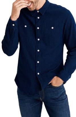 Madewell Textured Dot Long Sleeve Work Shirt