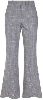 Robert Rodriguez Flared Tailored Check Trousers