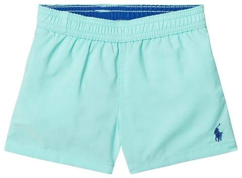 Mint Swim Shorts with PP Branding