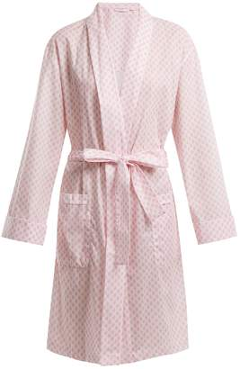 Derek Rose Ledbury 9 tie-waist cotton robe