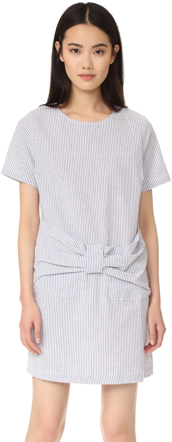 Clu Clu Clu Too Bow Front Stripe Dress