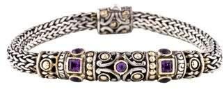 John Hardy Two-Tone Amethyst Bracelet