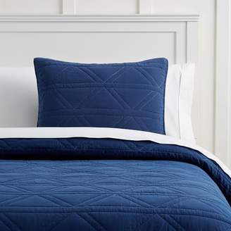 Pottery Barn Teen Diamond Stitch Coverlet, Twin/Twin XL, Navy