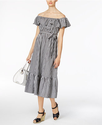 Grace Elements Cotton Off-The-Shoulder Midi Dress $90 thestylecure.com