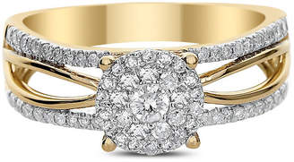 MODERN BRIDE Womens 1/2 CT. T.W. Round White Diamond 14K Gold Engagement Ring