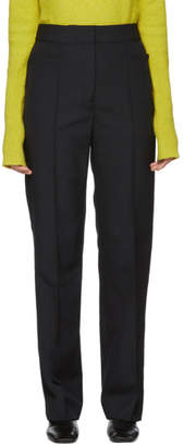 Lemaire Black Wool Suit Trousers