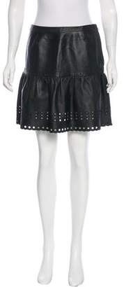 RED Valentino Leather Mini Skirt