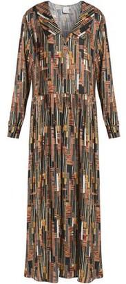 Stella Jean Printed Jersey Maxi Dress