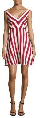 RED ValentinoRED Valentino Striped Cotton & Silk A-Line Dress