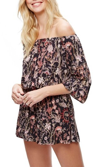 Women's Free People Pretty & Free Off The Shoulder Romper