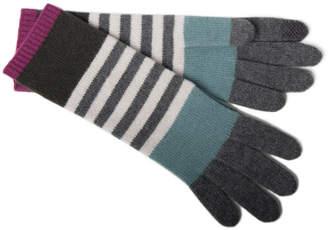 Portolano Cashmere Multi-Stripe Tech Gloves