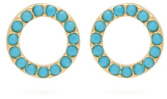 Isabel Marant Supraluminique Turquoise Crystal Studs - Womens - Blue