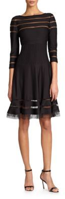 Tadashi Shoji Illusion-Inset Jersey Dress $330 thestylecure.com