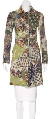 Etro Wool Printed Coat