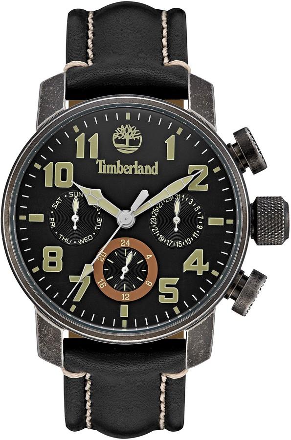 TimberlandTimberland Men's Moringa Leather Strap Watch