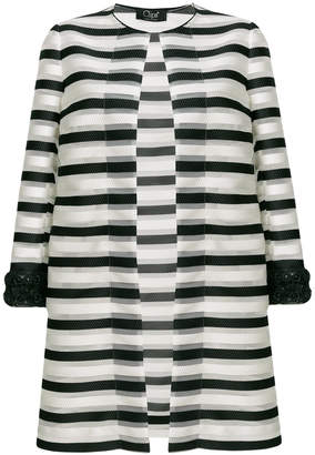 Clips striped fitted coat