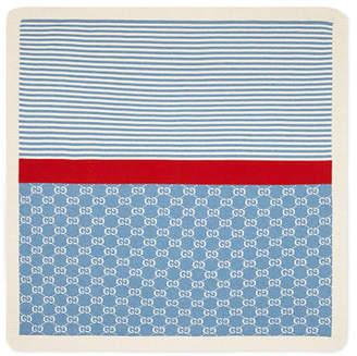 Gucci GG Jacquard & Stripe Baby Blanket
