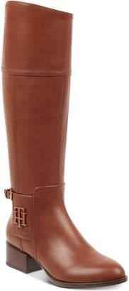 Tommy Hilfiger Merritt Wide-Calf Riding Boots Women's Shoes
