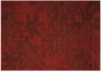 Calvin Klein urban - winter flower rug in garnet