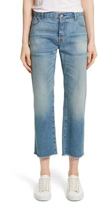 Nili Lotan Raw Edge Crop Boyfriend Jeans