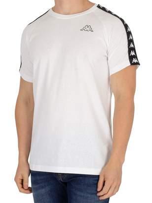 Kappa men's clothing short sleeve t-shirt 303UV10 J62 BANDA COEN SLIM M Bianco