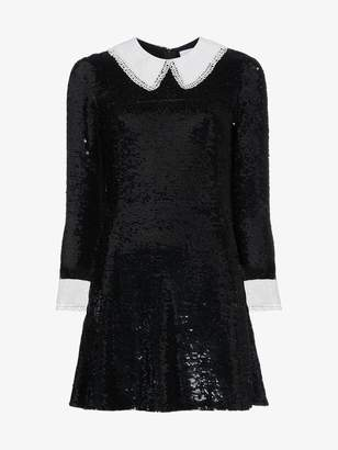 Ashish Sequinned mini dress with contrasting collar and cuffs