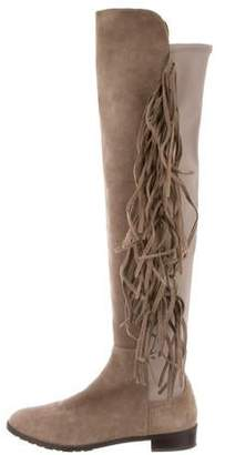 Stuart Weitzman Fringe Over-The-Knee Boots