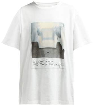 MM6 MAISON MARGIELA Photographic Printed Cotton T Shirt - Womens - White