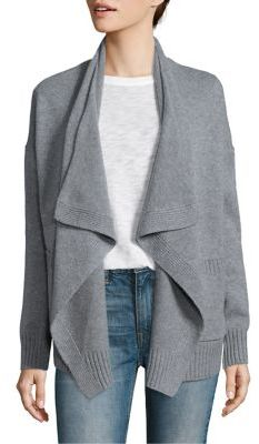Vince Wool & Cashmere Draped Cardigan $345 thestylecure.com