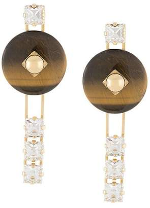 Crystalline Tiger eye earrings