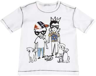 Dolce & Gabbana Designers & Pets Cotton Jersey T-Shirt