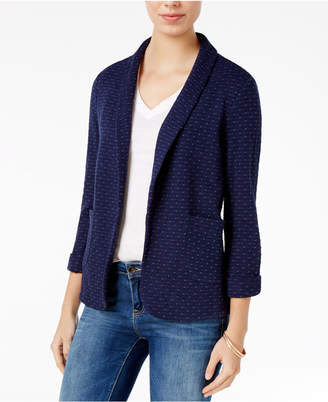 Maison Jules Cotton Knit Blazer, Only at Macy's $79.50 thestylecure.com