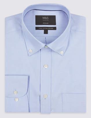Marks and Spencer 2in Longer Regular Fit Oxford Shirt