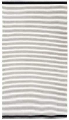 Pottery Barn Mini Stripe Beach Towel - Black/Gray