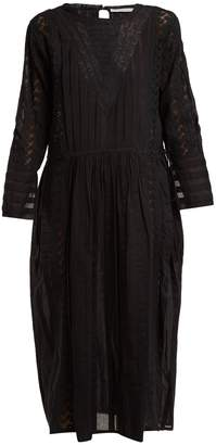 QUEENE AND BELLE Abigail lace-detailed sheer cotton dress