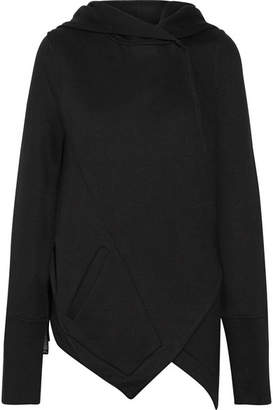 Ann Demeulemeester Jersey Hooded Top - Black
