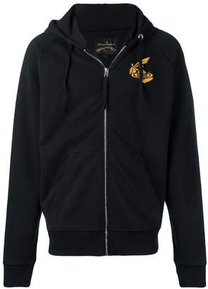 Vivienne Westwood orb logo zip hoodie