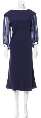 Giorgio Armani Silk Sheer-Accented Dress