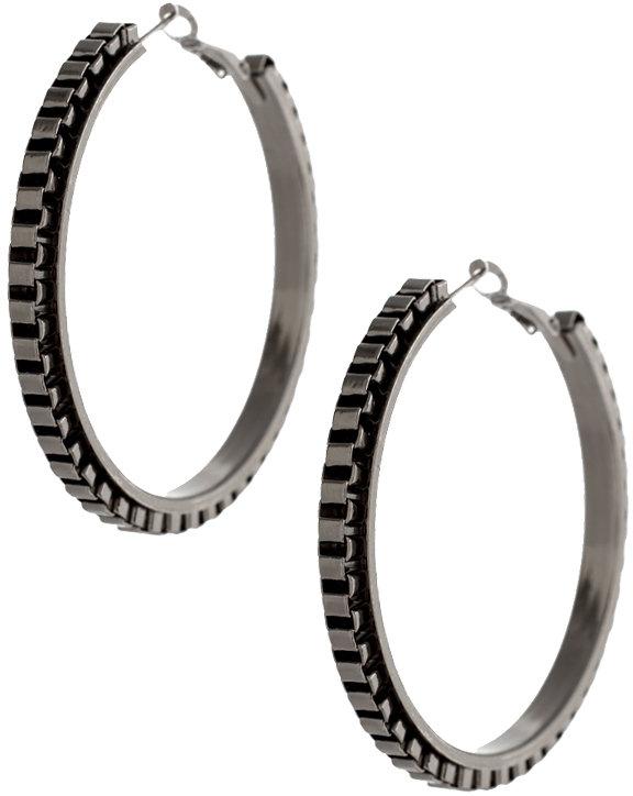 Lipsy Box Chain Hoop Earrings (+)