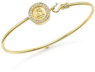 Temple St. Clair 18K Yellow Gold Mini Angel Pavé Diamond Bracelet