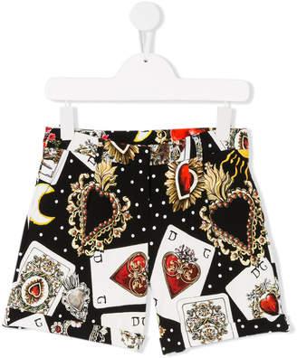Dolce & Gabbana card print shorts