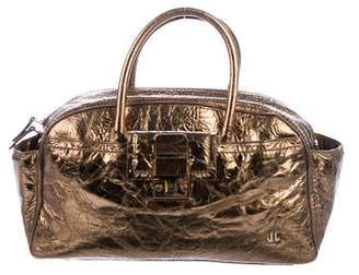 Lanvin Metallic Leather Satchel