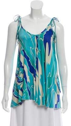 Julie Brown Silk Printed Top