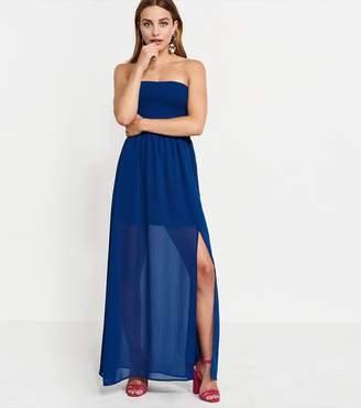 Dynamite Smocked Strapless Maxi Dress - FINAL SALE NAVY PEONY