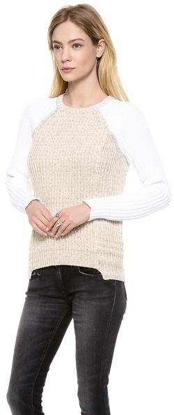 Rebecca Taylor Marl Blocked Pullover